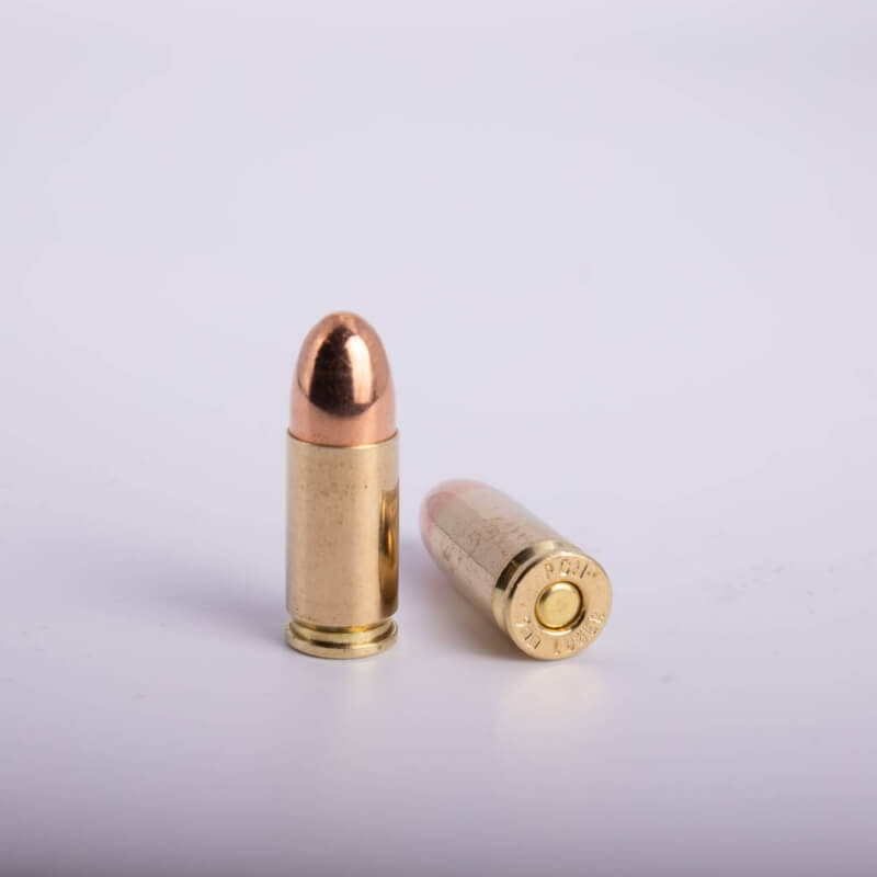 9 x 19 mm Luger (124 Grains CP/Fully Encapsulated)
